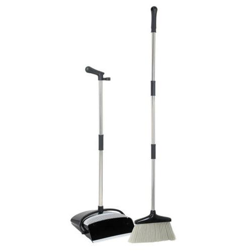 Broom and Dustpan With Sturdy Long Combo For