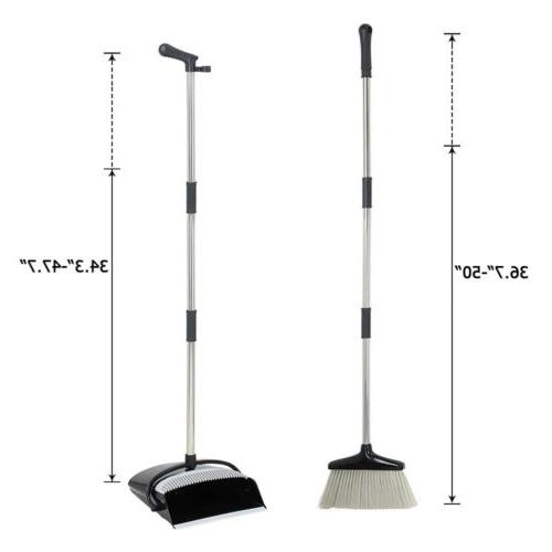 Broom and With Sturdy Long Handle Combo Kitchen Outdoor