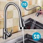 Brushed Kitchen Sink Faucet Stainless Steel Single Handle Si