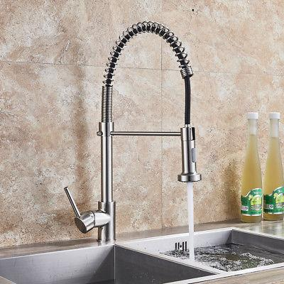 Brushed Nickel Sink Faucet Down Tap