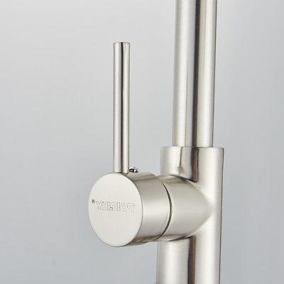 Brushed Nickel Faucet Pull Down Single Hole Bar Mixer Tap