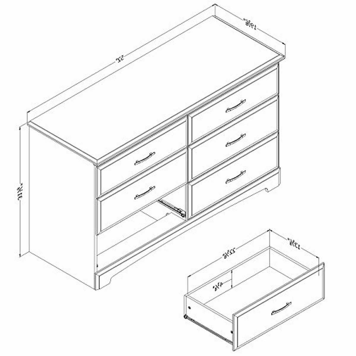 Double Dresser, Pure with Dull Nickel