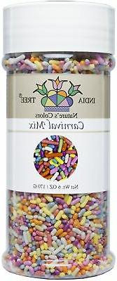 India Tree Natures Colors Carnival Sprinkles, 6 Ounce