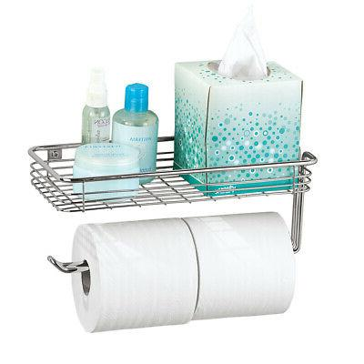 chrome finish toilet paper holder with long