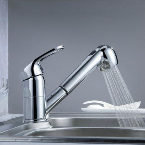 New Kitchen Sink Faucet Pull Out Stainless Steel