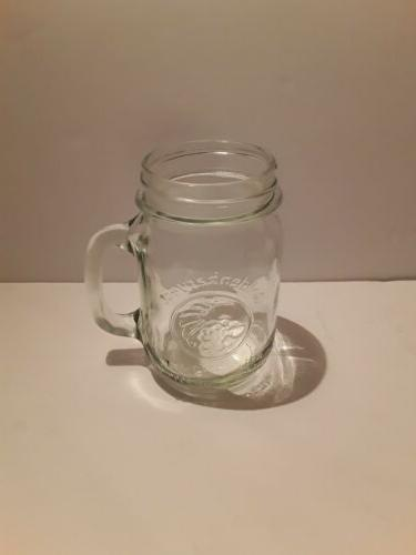 clear drinking jar with handle 16oz discontinued