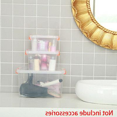 Clear Storage Home Office Organizer Clip Carry Handle