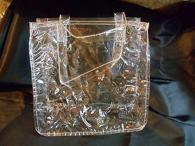 clear plastic tote,12x12x6,with6inch handles