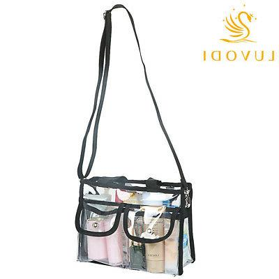 Clear Makeup Cosmetic Bag with Shoulder