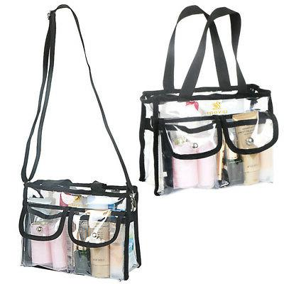 Clear Vanity Cosmetic Shoulder Bag with