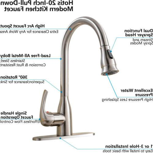 Commercial Single Handle Stainless Kitchen Sink