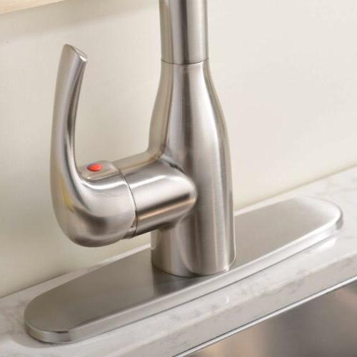 Commercial Stainless Steel Pull Kitchen Faucet
