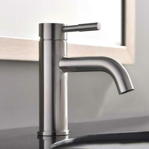 Contemporary Brushed Nickel Single