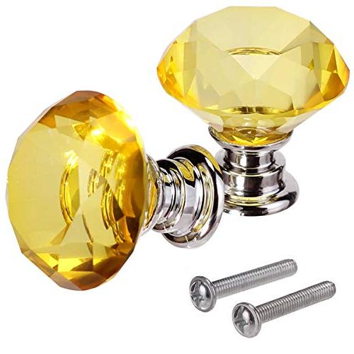 AKRover Glass Cabinet 30mm Diamond Shape Drawer Kitchen Cabinets Pulls