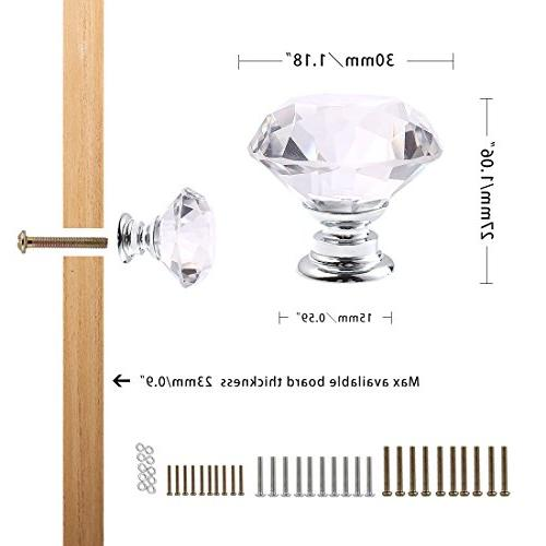 CZC HOME PCS Crystal Pull Handle Cupboard Cabinet Knobs Shutters