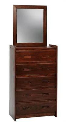 d 5 drawer chest recessed