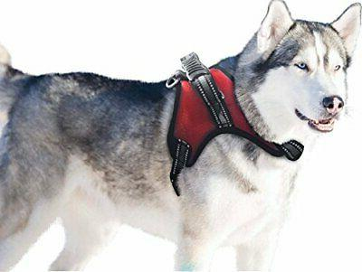 dog harness with handle no pull padded