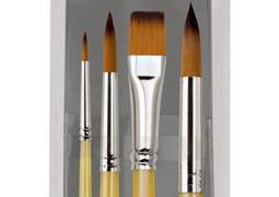dura handleartist paint brushes short