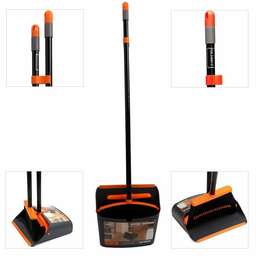 Dust Pan Dustpan Cleans Broom with Handle Home