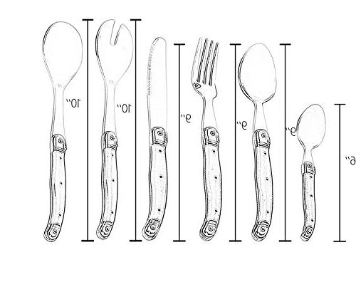 Flying Stainless Steel Flatware Set. Color Handle, Wooden Box, Pieces