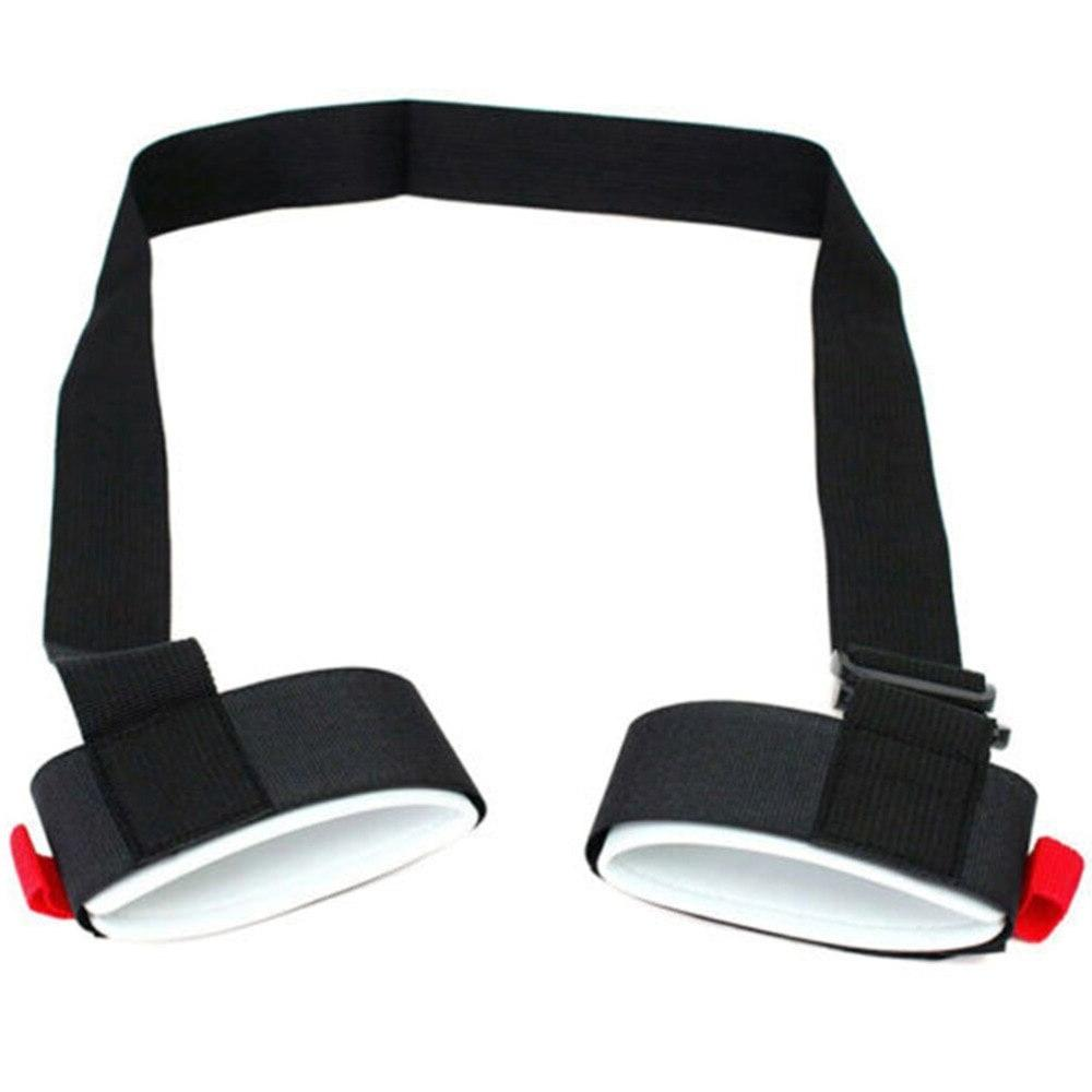 <font><b>Adjustable</b></font> Skiing Hand <font><b>Handle</b></font> Straps Protecting Black