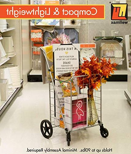 Grocery Shopping with Swivel Wheels – with – Space Duty