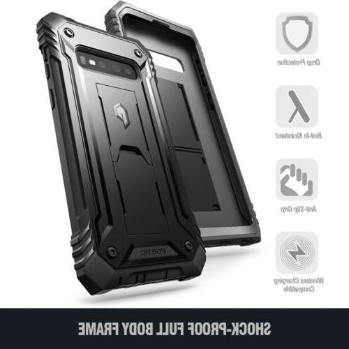 Heavy Rugged Case For Galaxy Plus Cover,With Built-in-Kickstand