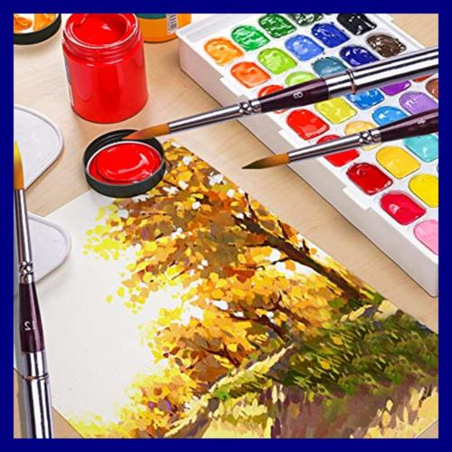 High End Painting Synthetic Round Short For