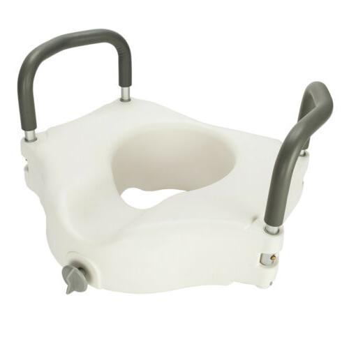 Toilet Seat Riser with Handles - Raised Lifter Toilet Seat w