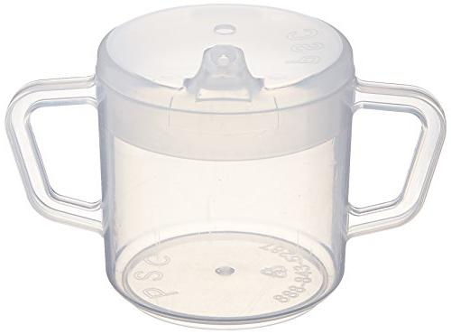 Sammons Independence Two-Handled Cup Lightweight Cup Easy-to-Grasp & Spillproof Adult BPA Free Mug, 8