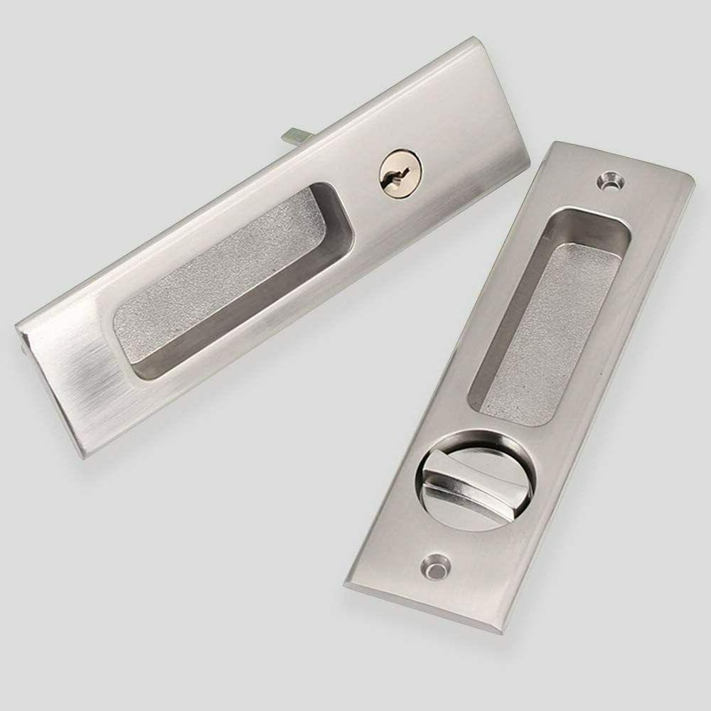 Invisible Sliding Barn Locks Handle with Keys