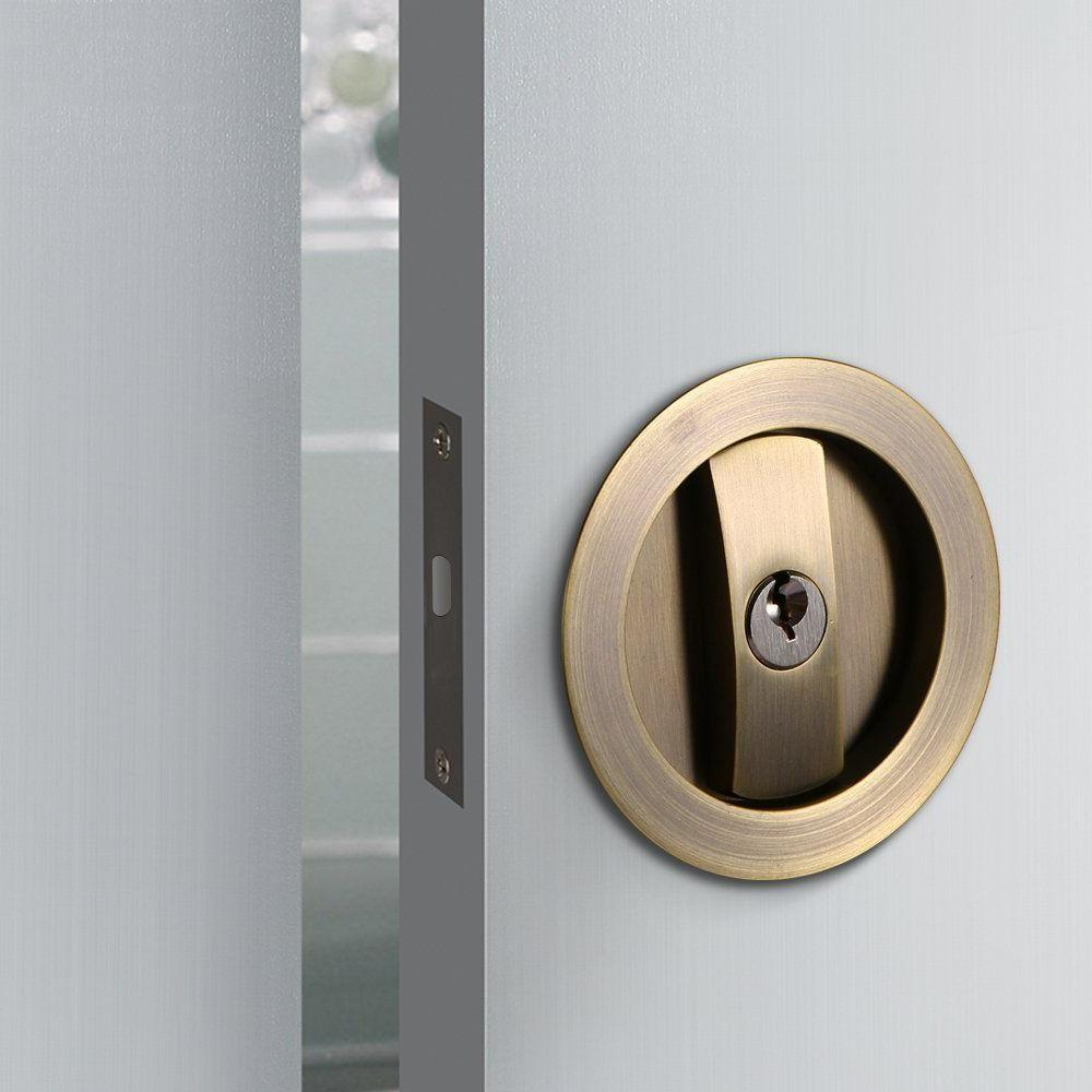 Invisible Sliding Barn Door Gate Cup Handle Lock Hardware On Sale