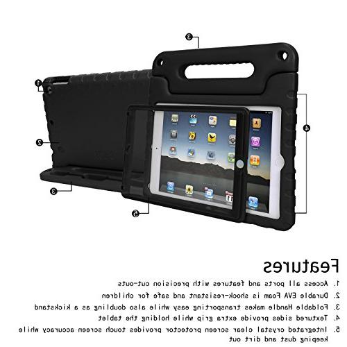 HDE Case for Air - Shockproof Bumper Hard Cover Handle in Protector Apple iPad Air - Generation