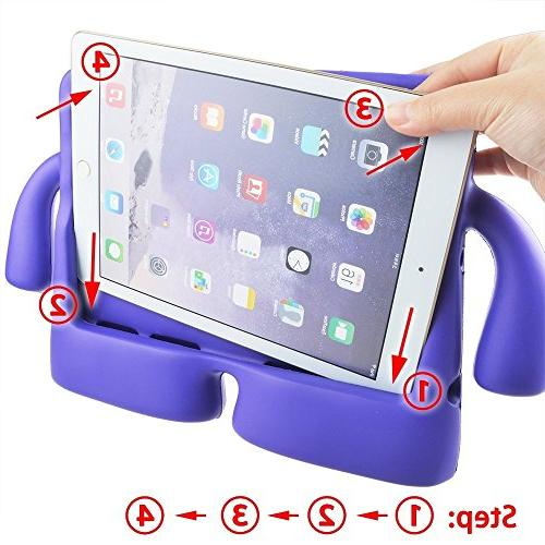 iPad Kids Case Handle by Hontu Lightweight Protection Foam for Air 1/2 6