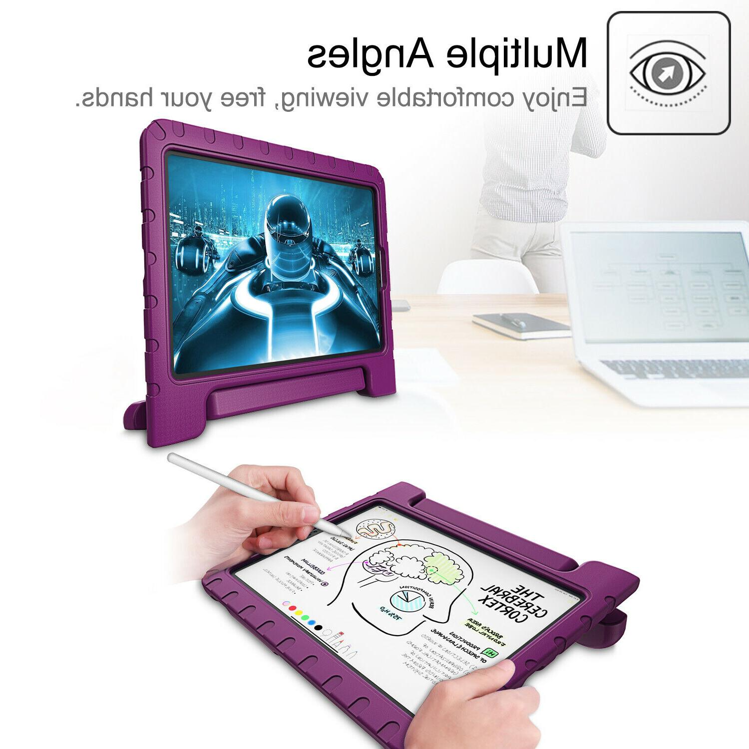 For iPad 2018 Shock Stand with Pencil
