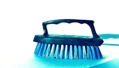 Iron Paint Handle Brush With Scrubber Cleaning