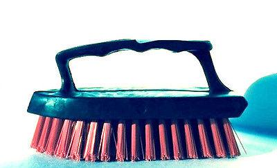 Iron Paint Handle Brush With Hard Scrubber Cleaning