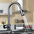 Kitchen Sink Faucet Tap With Pull Out Spray Chrome Finish Mi