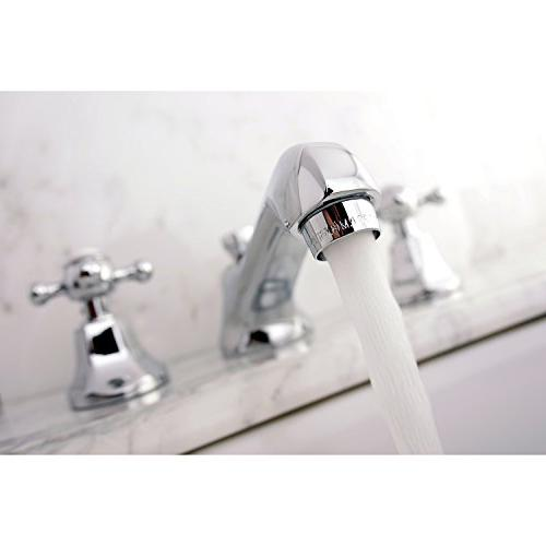 Kingston Widespread Faucet with Metal Cross Chrome