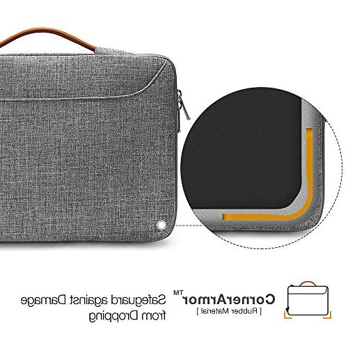 tomtoc Laptop Sleeve Case Compatible with New MacBook Late 2016-2018 A1707 | T-Series / Briefcase with Accessory