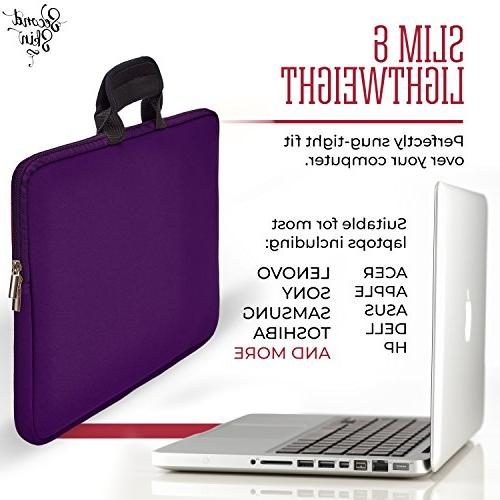 "17"" Waterproof Laptop Case for Notebooks, or Ultrabooks, Handles Storage Pocket."