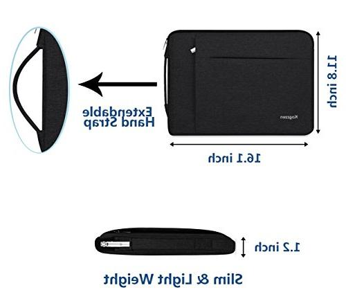 """Kogzzen 14-15.6 Sleeve with Handle Compatible with MacBook 15""""/ Surface 2 15"""", Shockproof Bag, Ultrabook Chromebook HP Lenovo Asus -"""