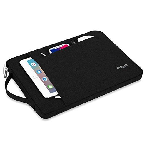 Kogzzen Inch Laptop Sleeve with Surface Book 2 Shockproof Case Carrying Bag, HP Asus - Black