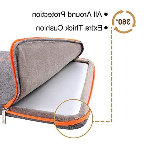 MOSISO Protective Briefcase 13-13.3 Inch 2018 2016, Air, Retina, Polyester Handle Shockproof Bag, Gray