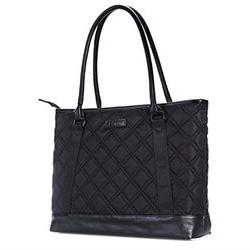 Laptop Tote Bag, DTBG 15.6 Inch Nylon Classic Diamond Patter