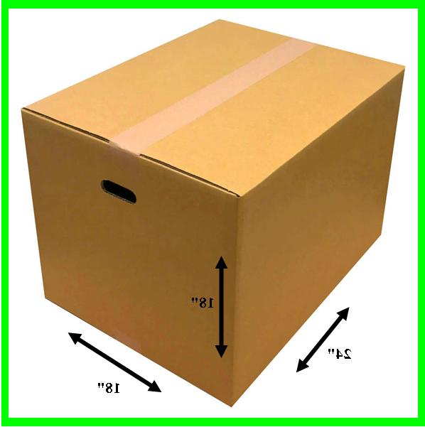 large shipping box moving with handle holes
