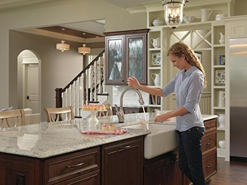 Delta Leland with Pull Touch2O Magnetic Spray SpotShield
