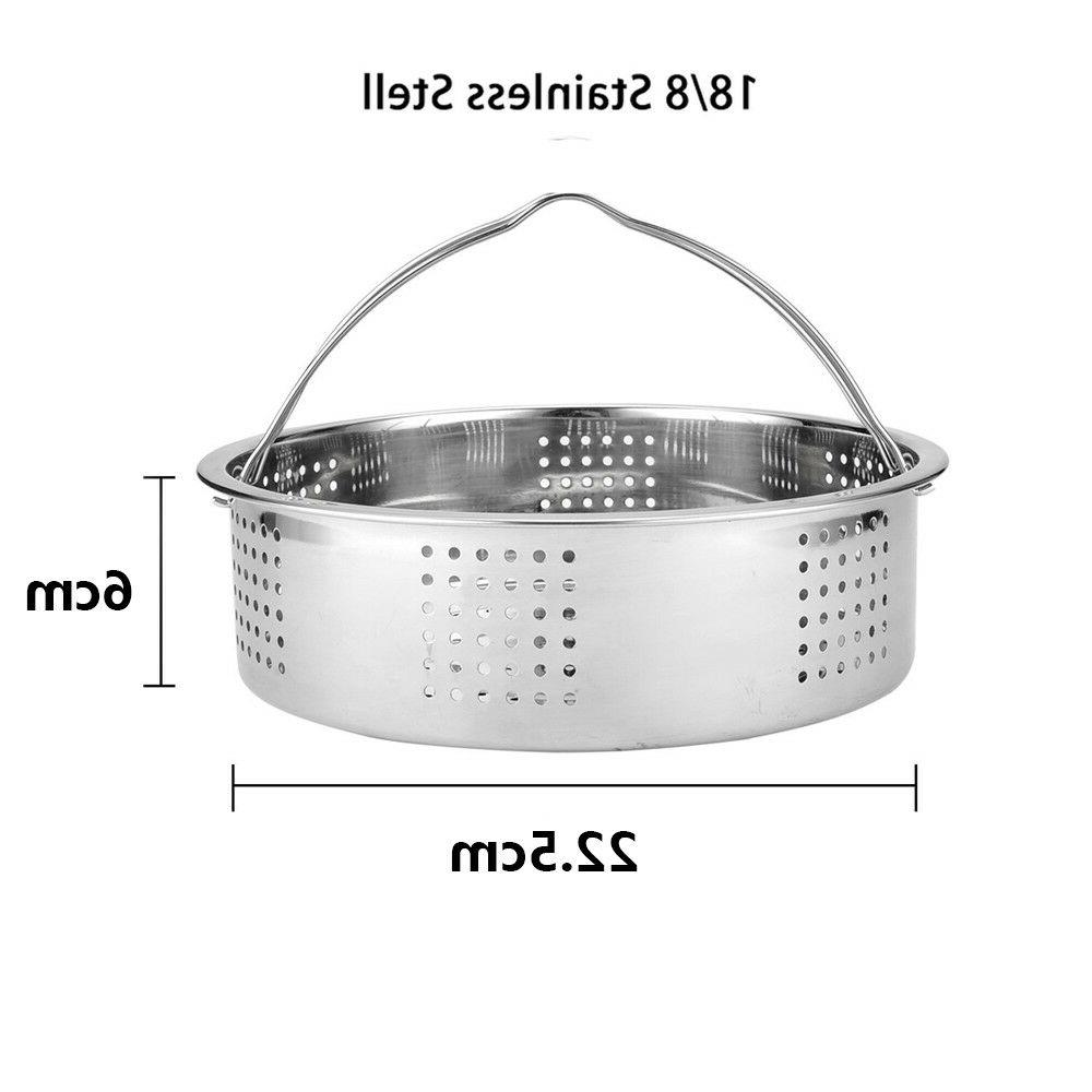 Lightweight Stainless Basket with Handle for Instant 6, qt