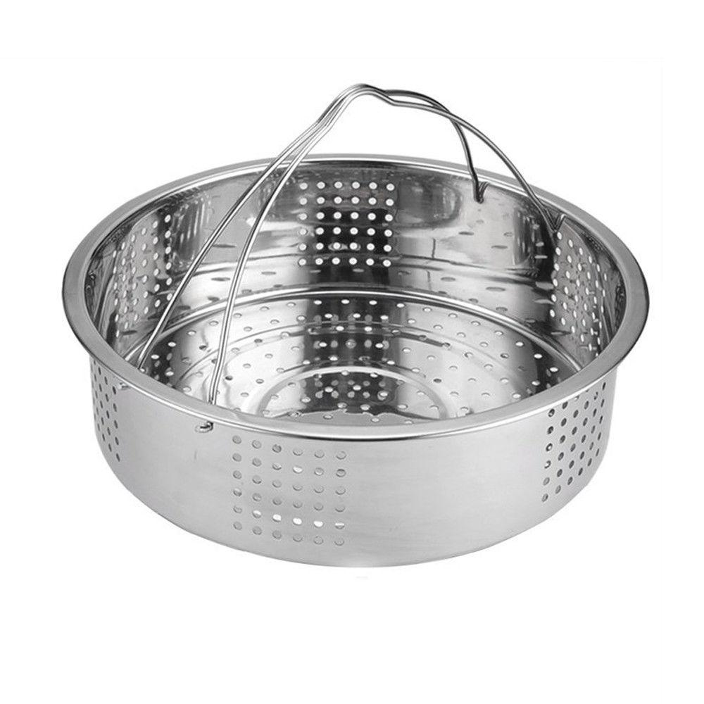 lightweight stainless steel steamer basket with handle