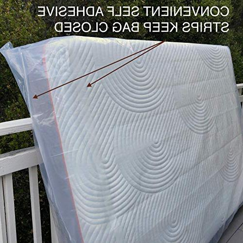 UltraBlock Mattress Bag for Moving, Storage or - 6 mil & Puncture Two Strips
